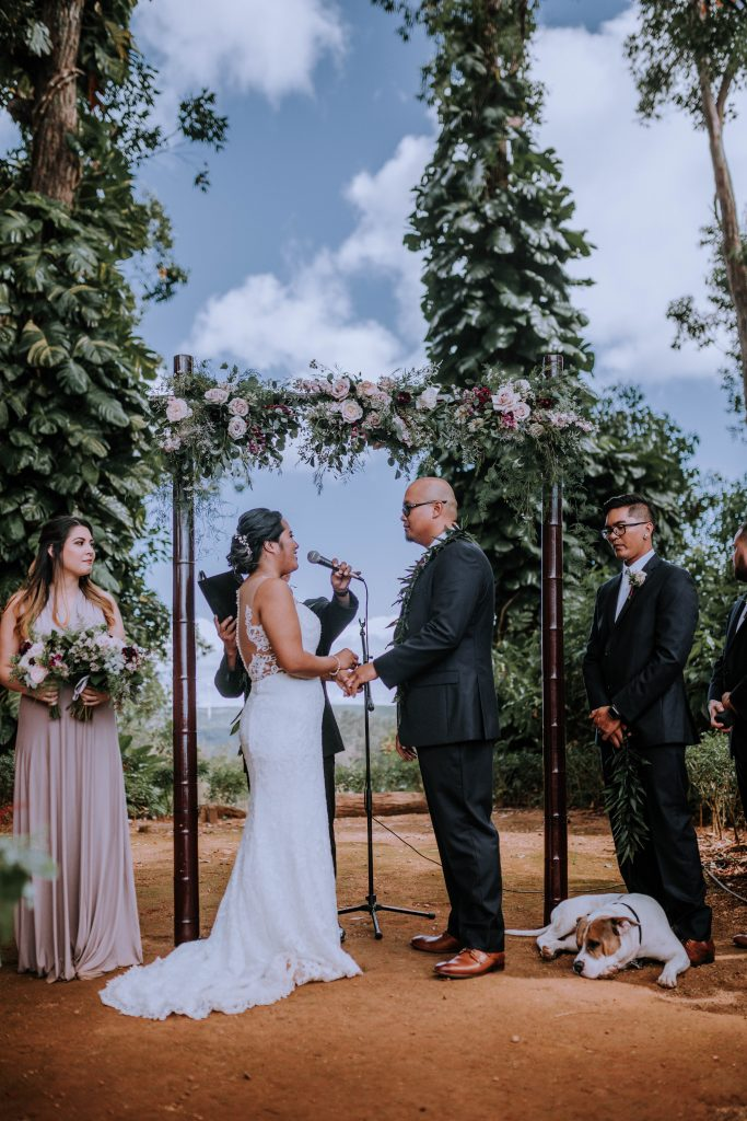 Sunset Ranch wedding ceremony