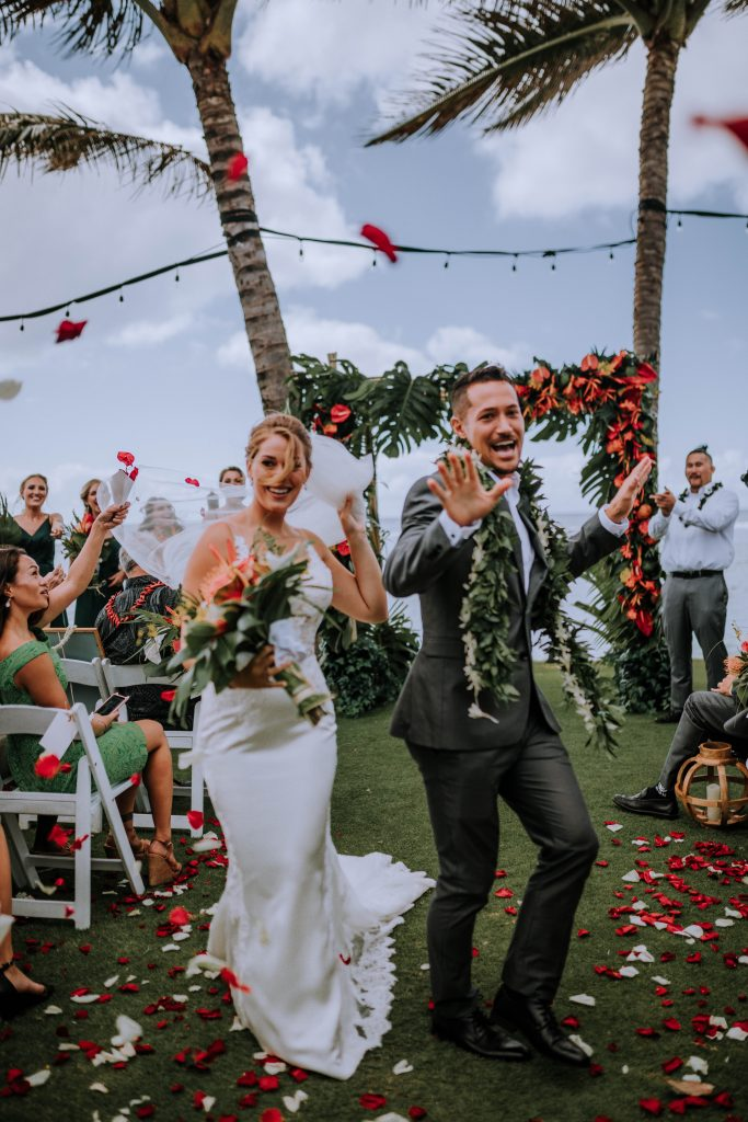wedding ceremony in Hawaii