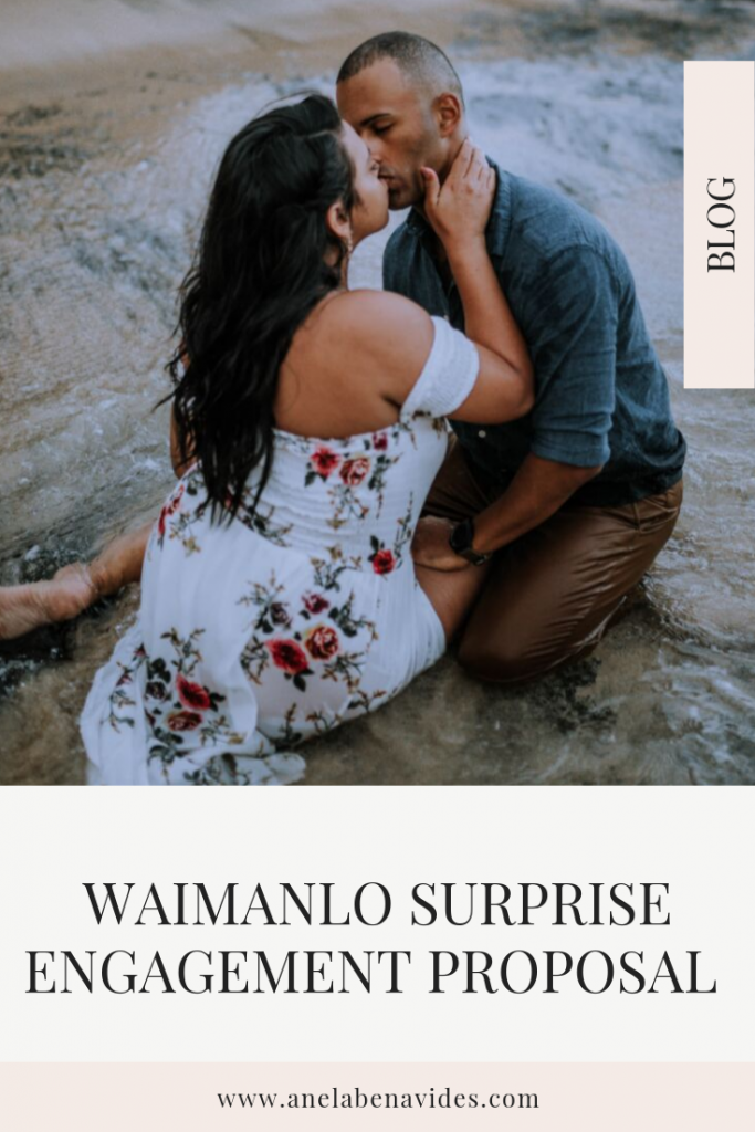 Waimanlo, Hawaii Surprise Engagement Proposal by anela benavides photography | posing ideas and outfit inspiration