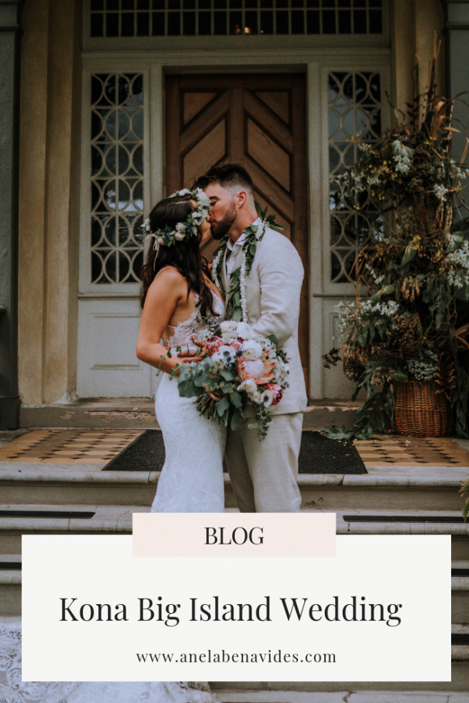 Kona Big Island Wedding including hawaii wedding inspiration, wedding details and bride and groom fashion by Anela Benavides