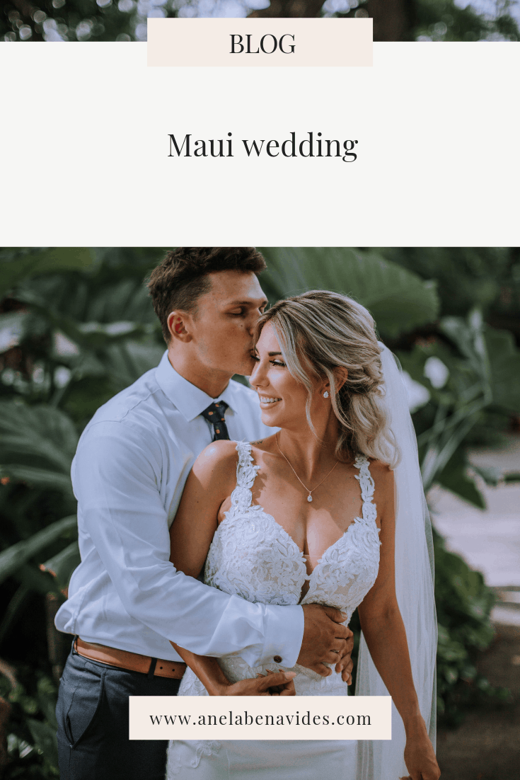 Maui Wedding including wedding day details, bride and groom portraits, outdoor wedding and Hawaii wedding inspiration by Anela Benavides, Maui Hawaii wedding photographer