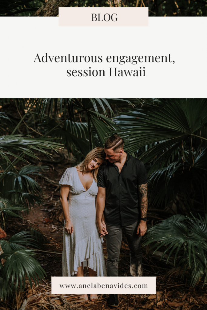Adventurous engagement session Hawaii