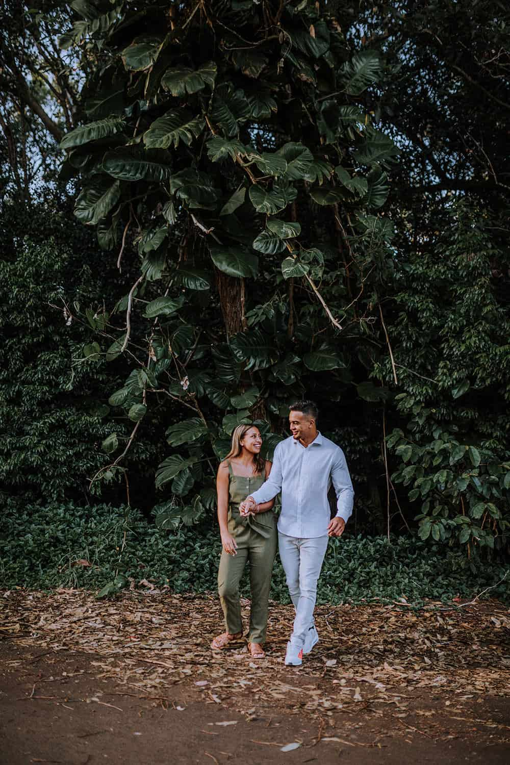 Hawaii Adventurous Couples Session | Waimea by Anela Benavides Photography. Includes posing inspiration for an outdoor couples session, engagement outfit inspiration. Book your Hawaii couples session and browse the blog for more inspiration